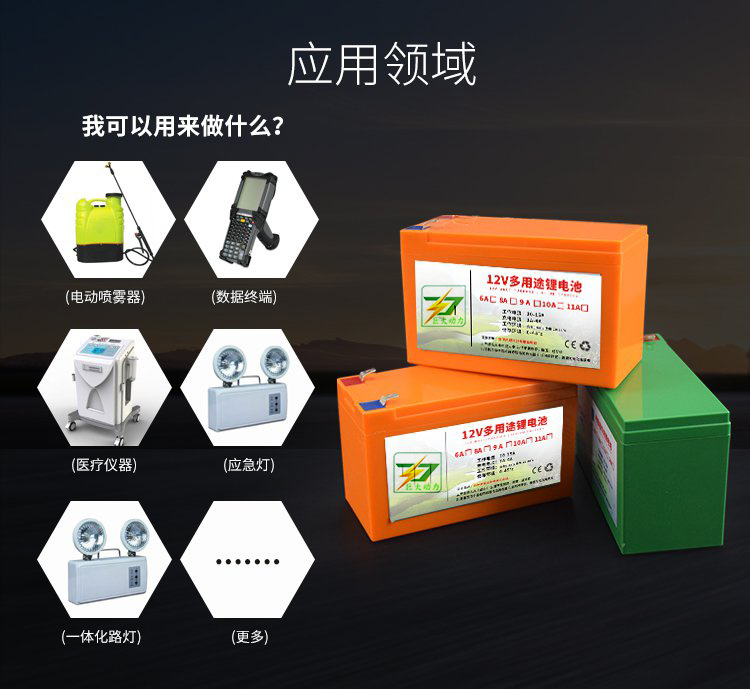 12V电动喷雾器锂电池