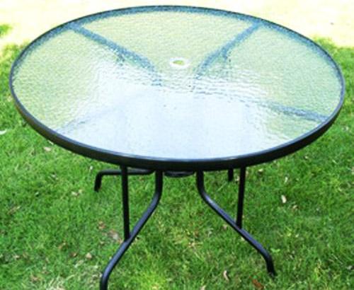 沙滩玻璃圆桌