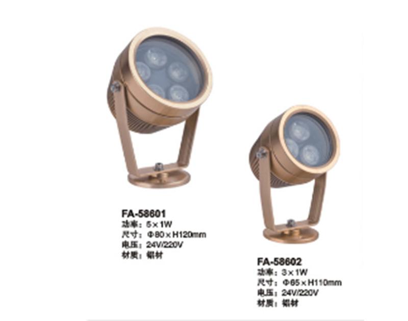 铜色LED射灯