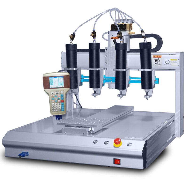 桌面式三轴四头硅胶点胶机