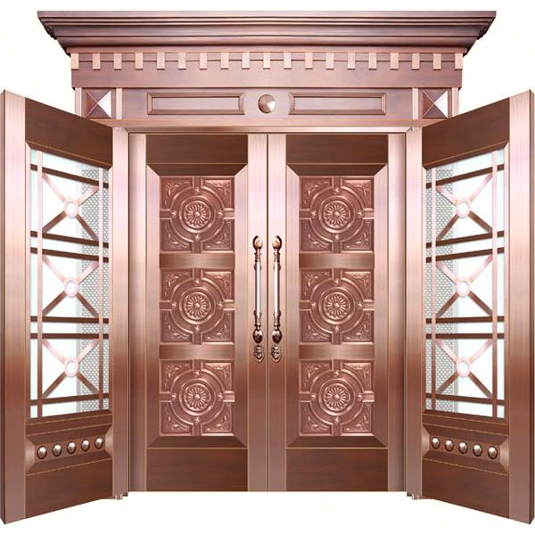 铜框玻璃门
