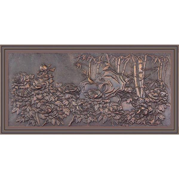 义乌铜壁画