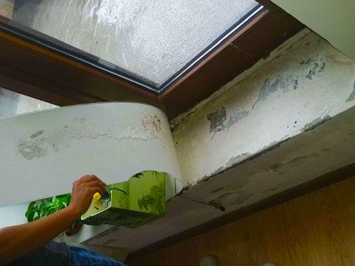 高层窗口漏水