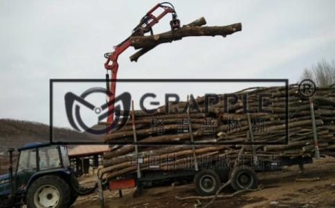 7.5米吊臂旋转抓木机