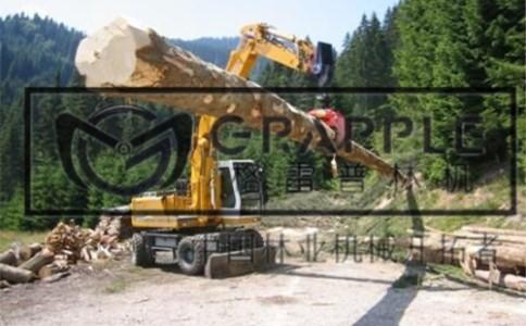 立齿式挖机抓木器