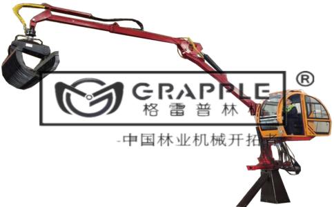吊臂抓木器安装