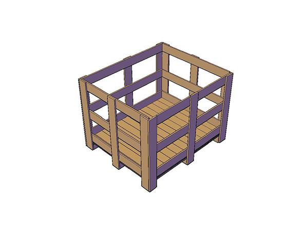木制花格箱