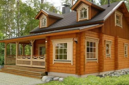 防腐木屋别墅设计