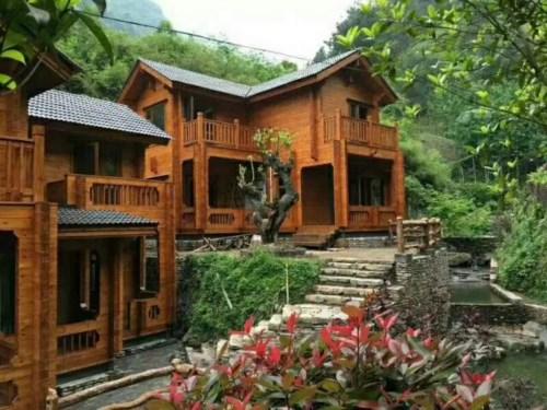 防腐木木屋别墅安装