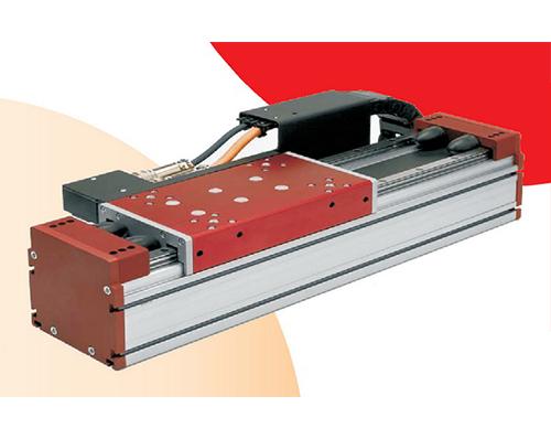 带铁心平板式直线电机