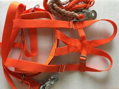 电工双背双保险安全带