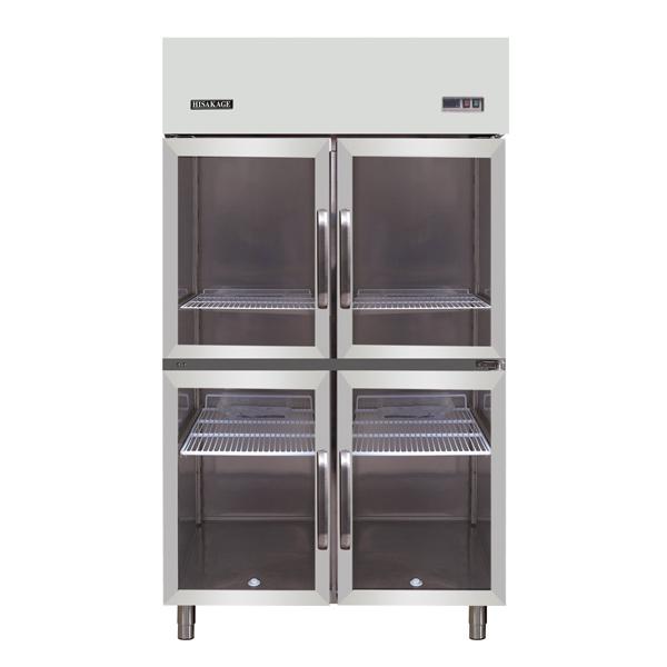玻璃门四门冷藏冰箱