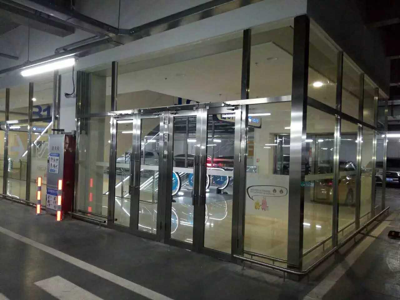 乙級不鏽鋼防火玻璃門