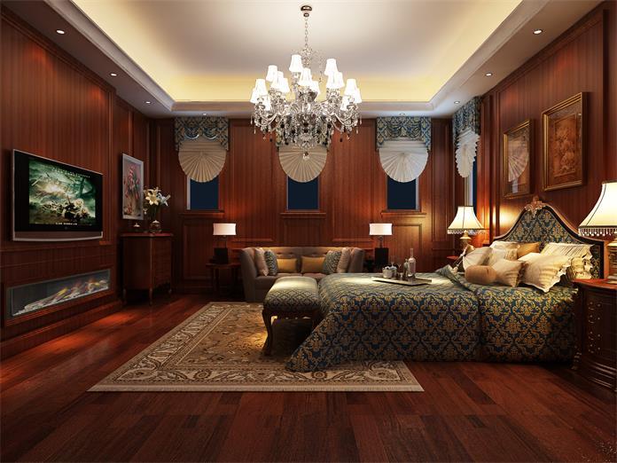 张店古典中式卧室装修