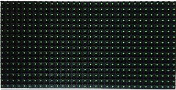半室外单绿色LED显示屏
