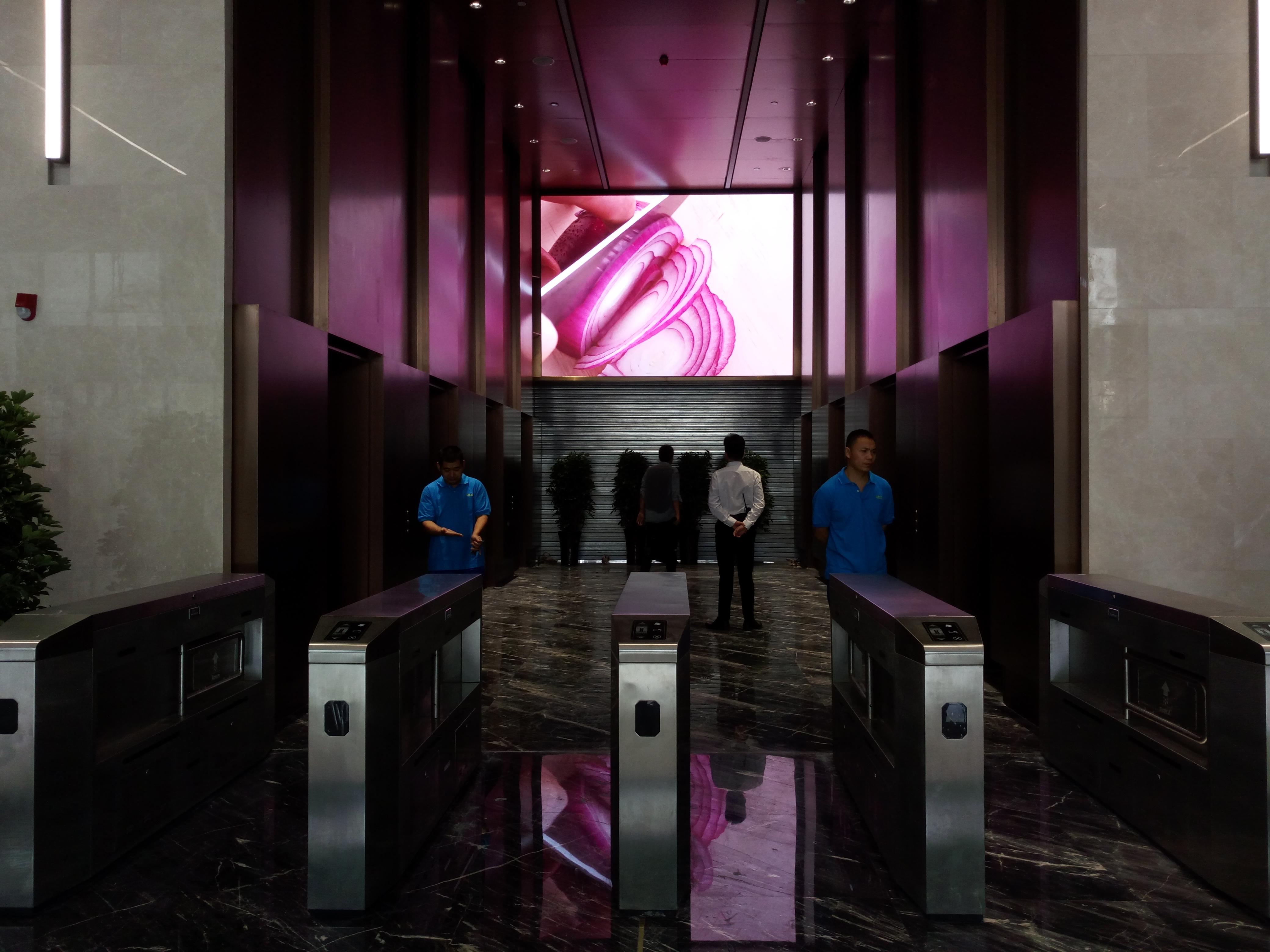 郑东新区某单位大厦室内P3全彩LED显示屏