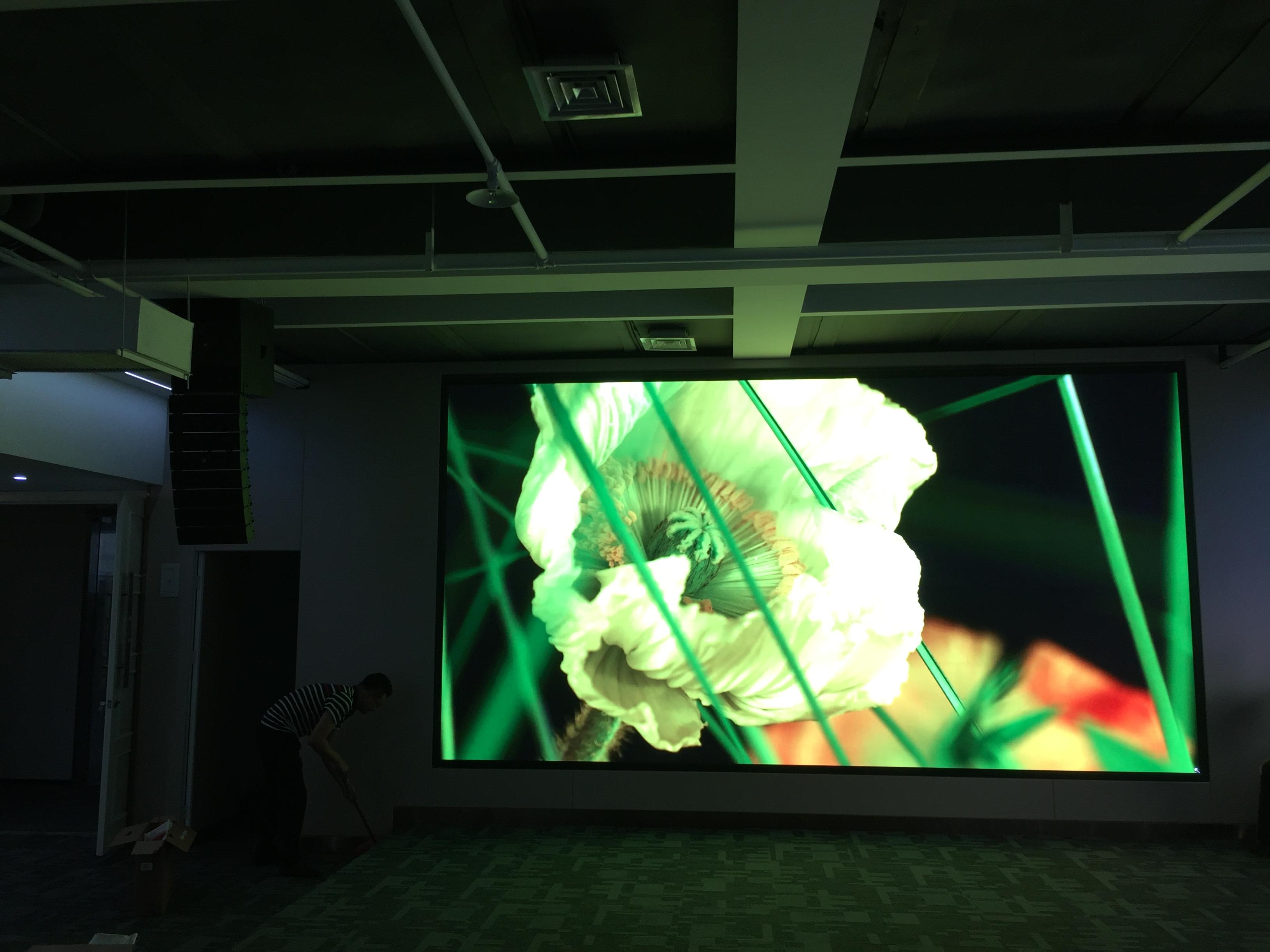 郑州凯旋广场某企业会议室高清P2全彩显示屏
