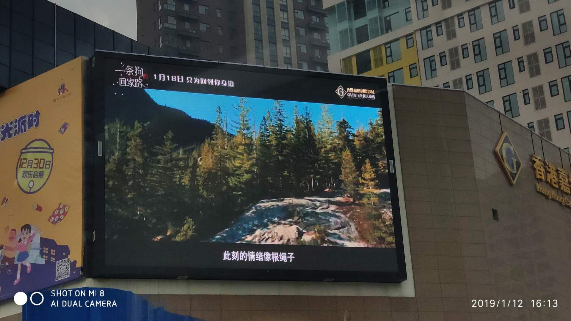 某地产商业广场室外P8全彩LED显示屏
