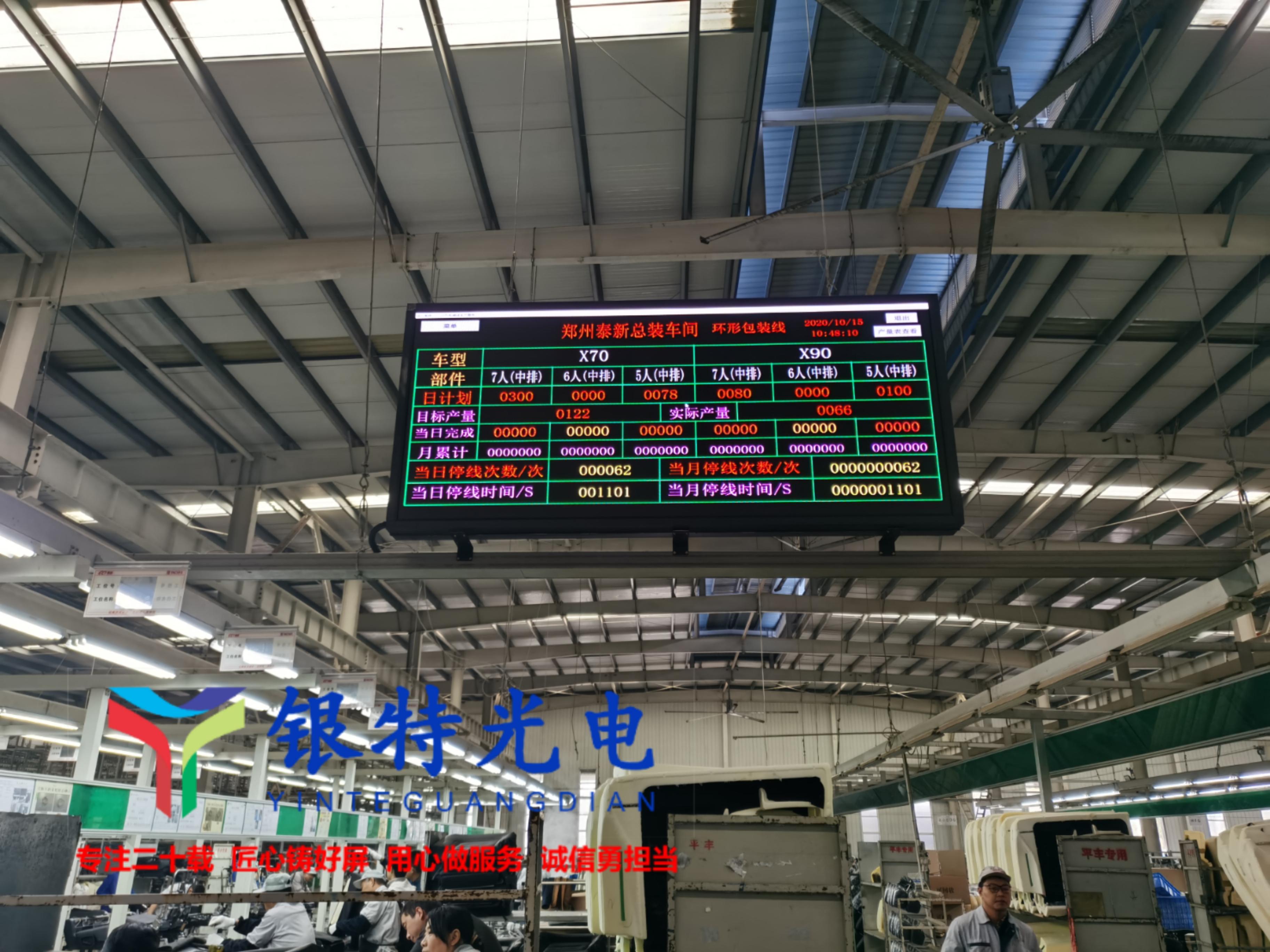中牟泰新集团车间信息看板LED全彩屏