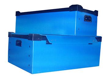 蓝色pp塑料中空板周转箱-山东模具