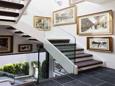 石家庄玻璃楼梯