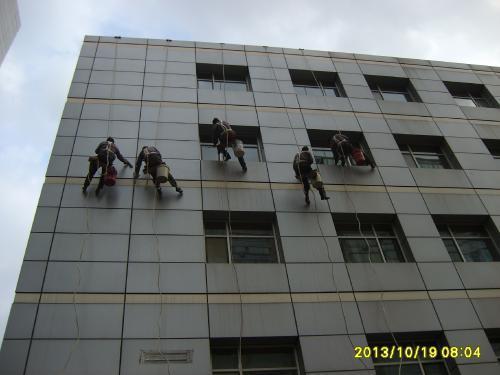 盐城大厦外墙清洗
