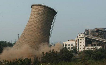 高巨型冷卻塔拆除