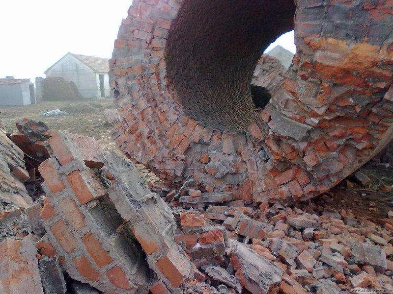 人工磚煙囪拆除