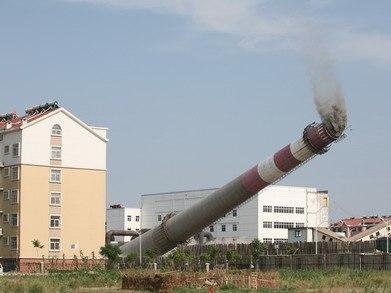 水泥煙囪拆除方案