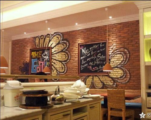 主题餐厅墙体彩绘