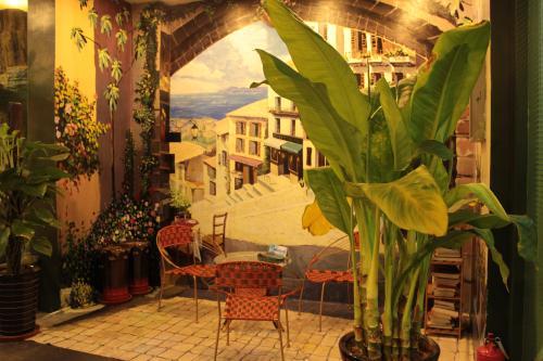 洛阳餐厅彩绘
