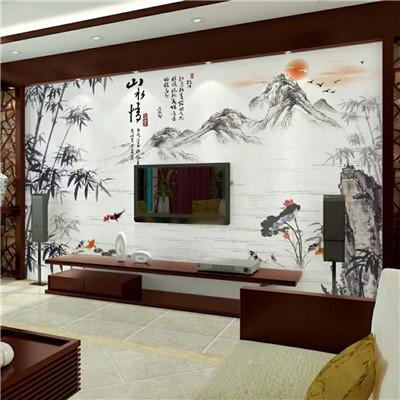 彩绘背景墙