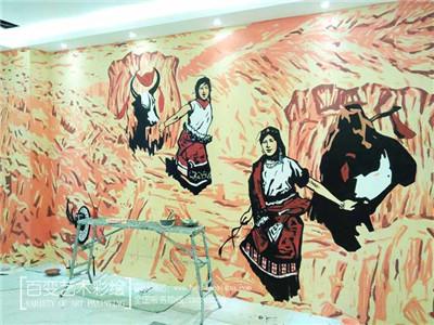 餐饮墙体彩绘