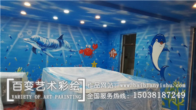新郑郑州墙体彩绘施工
