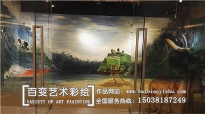 洛阳郑州饭店餐厅彩绘