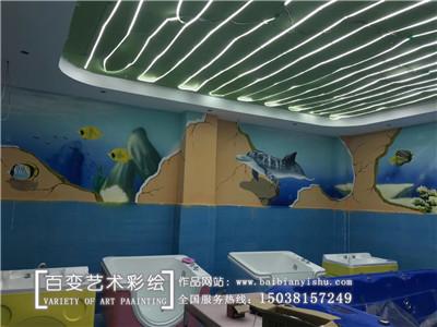 育婴店墙体彩绘