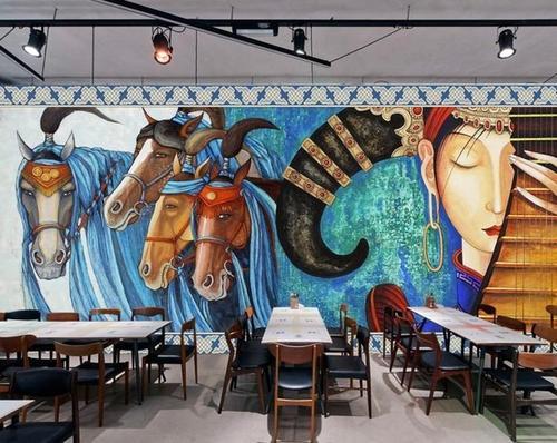 艺术墙彩绘