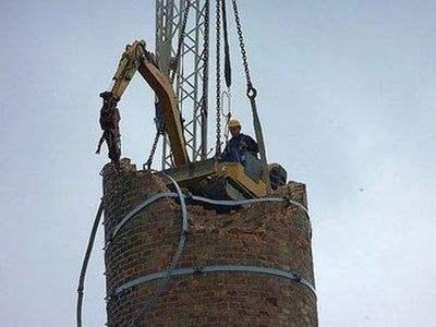 废旧烟囱拆除