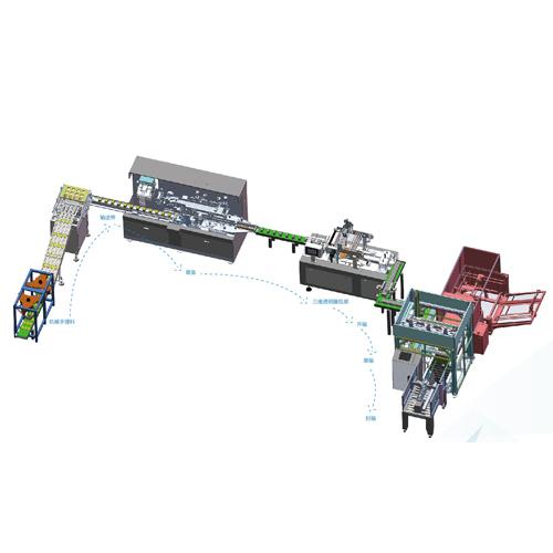 包装生产线三维图
