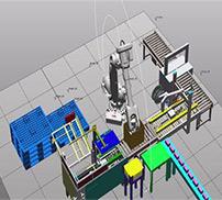 机器人装箱机码垛生产线