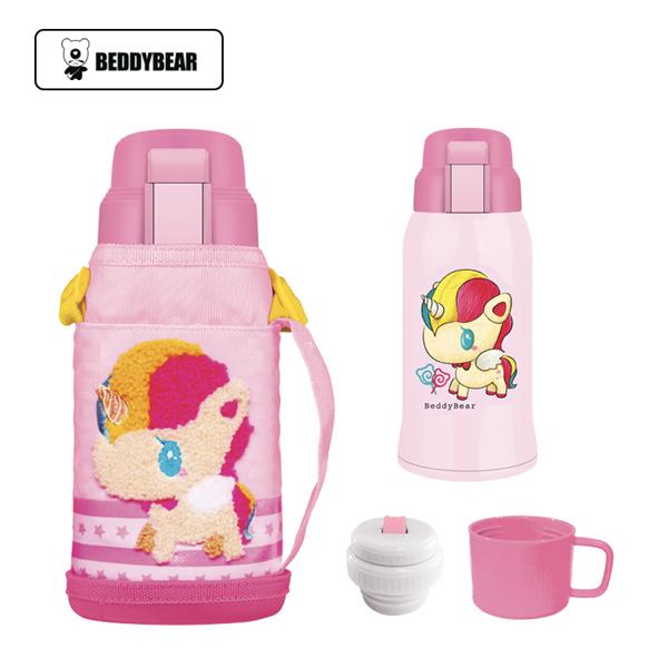 粉色保温杯