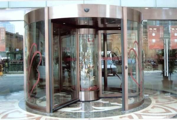 环柱旋转门