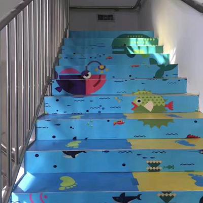 石家庄卡通楼梯踏步
