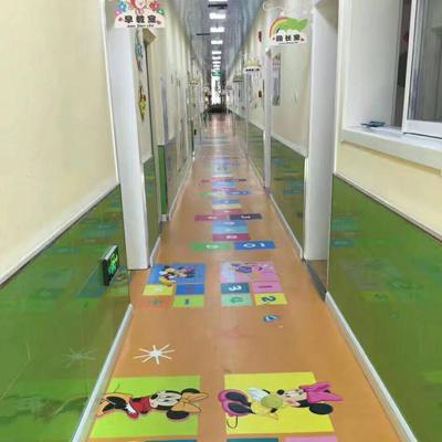 廊坊幼教卡通塑胶地板