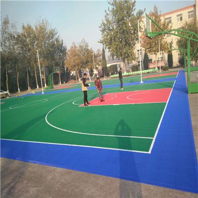 籃球場懸浮式拼裝地板