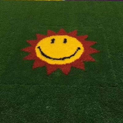 幼儿园带图案针织草坪