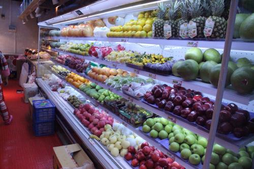 水果店貨架