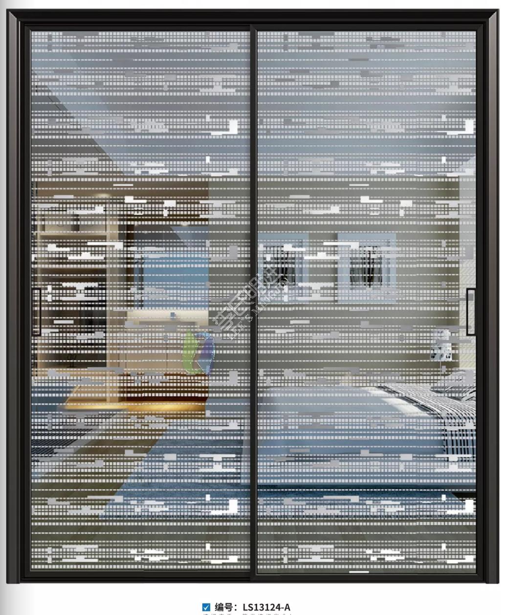 夹丝膜防爆玻璃极窄边框推拉门