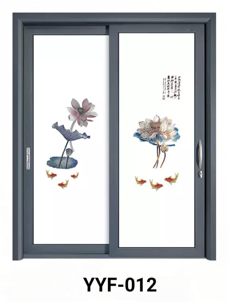新款立体艺术玻璃门
