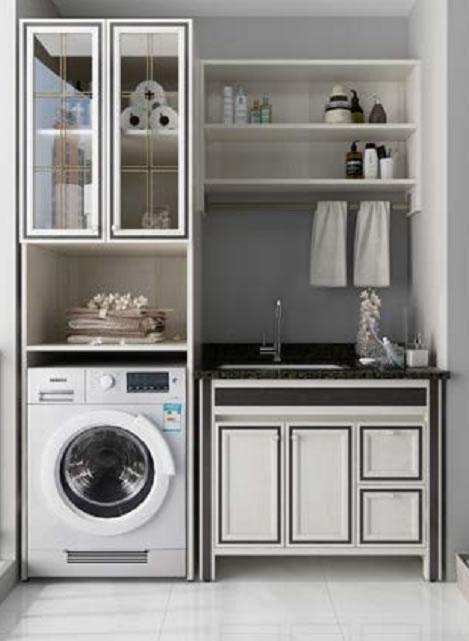 全铝家居洗衣柜,成都钛镁铝合金家具厂家